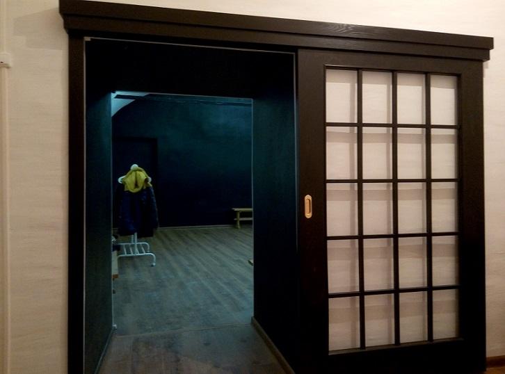 Раздвижная межкомнатная дверь венге